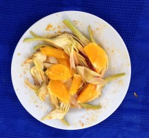 insalata di arance e carciofi