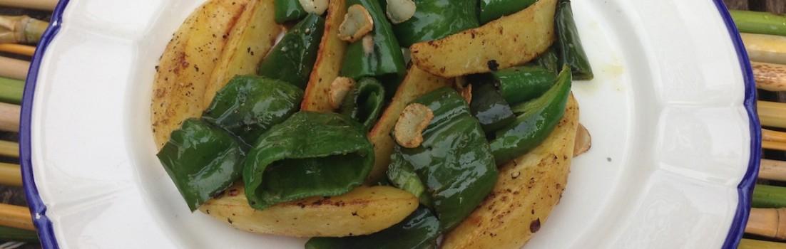 peperoni verdi e patate