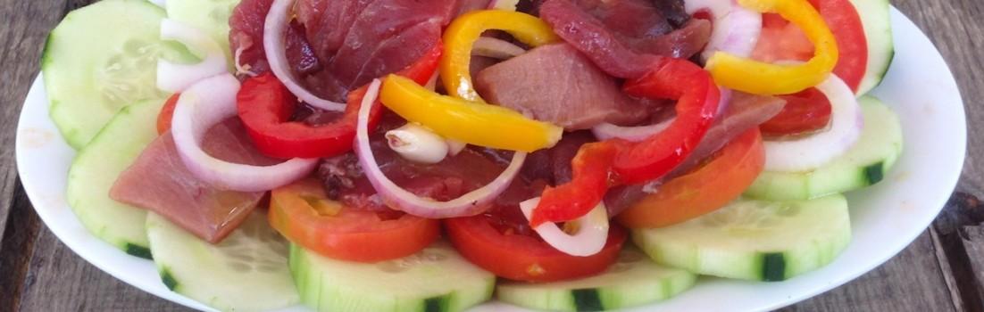 insalata di tonno crudo