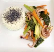 calamari e verdure