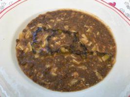 Pasta lenticchie e carne macinata
